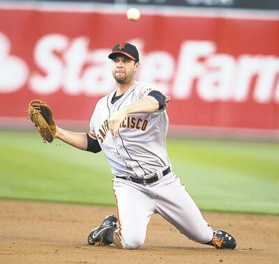 Ray Chavez / MCT San Francisco Giants� first baseman Brandon Belt received tweet venom from Dodger nation when he made an innocuous tweet about free-agent spending.