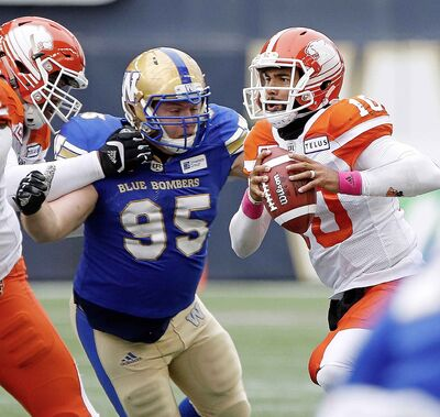 Canadian defensive tackle Jake Thomas signed a one-year extension with the Bombers in January.
