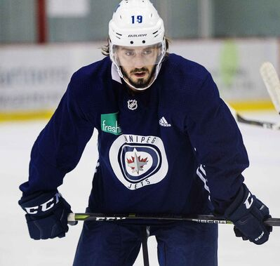 Winnipeg Jets' Nic Petan is back in the city and skating on his own.