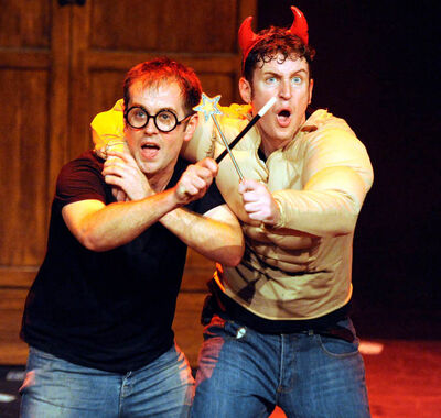 """Jeff Turner and Daniel Clarkson in """"Potted Potter."""""""