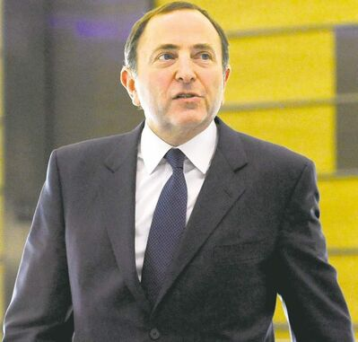 NHL Commissioner Gary Bettman leaves following labor talks, Friday, Nov. 9, 2012, in New York.