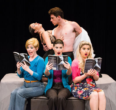 The musical opens with a women's book club deciding to read the titular, S&M-laced E L James novel 50 Shades of Grey.