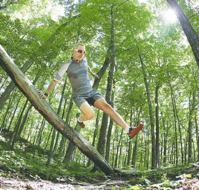 Dave McMahon, a competitive trail runner, recommends running with a friend.