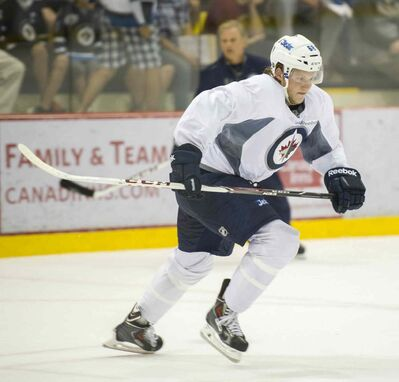 Ryan Olsen, the sixth-round pick of 2012 draft, turned pro last fall with the AHL's St. John's IceCaps.