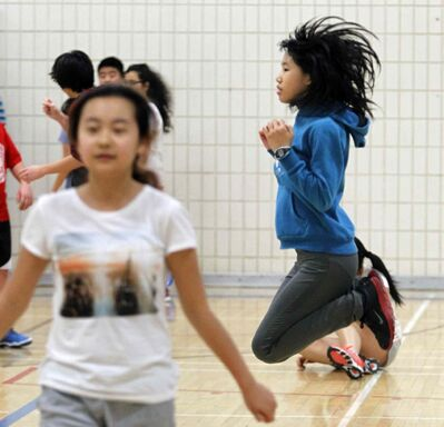 46 per cent of students participate in the recommended amount of daily physical activity.