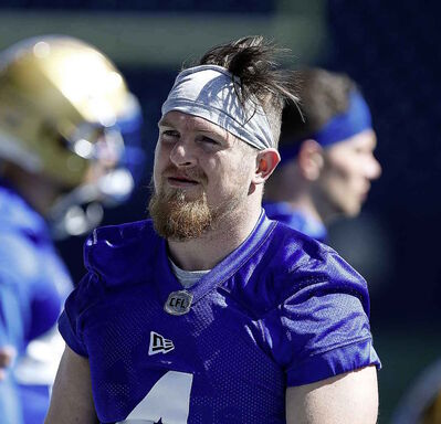 Blue Bombers' Adam Bighill at training camp.
