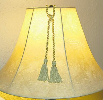 Braided rope and tassels, above and below, add a nice touch.