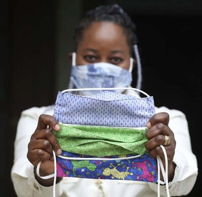Chris Sweda / Chicago Tribune</p><p>Washable cloth masks are more sustainable than disposable ones. </p>