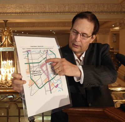 Mayoral Candidate David Sanders today released details at the Hotel Fort Garry on what he calls as the billion dollar Bus Rapid Transit boondoggle.