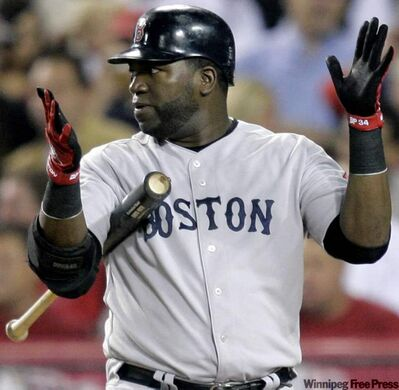 Boston Red Sox slugger David Ortiz: a great hitter, but Christmas is coming