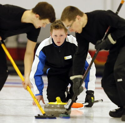 Team Braden Calvert claimed the men's title at the Canola Junior Provincial Curling Championships at the  Portage Curling Club Tuesday, while Team Meagan Brezden won the women's final.