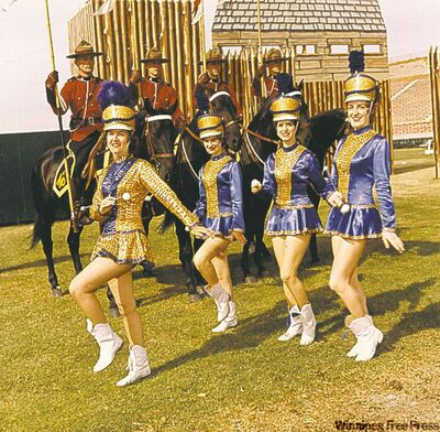 They performed with the RCMP musical ride.