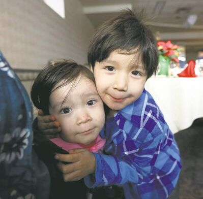 Hailey Nepinak, 2, and her brother Maximus, 4, were among those at the Clarion Hotel. Their aunt, Tanya Nepinak, was slain.
