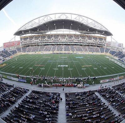 Trevor Hagan / THE CANADIAN PRESS ArCHIVESTraffic problems led to a small crowd at kickoff time for the Winnipeg Blue Bombers first game at their new stadium.