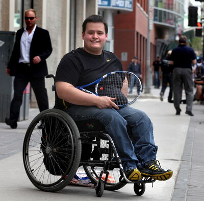Sam Unrau, above, and other advocates for wheelchair sports are working toward forming an effective umbrella association.