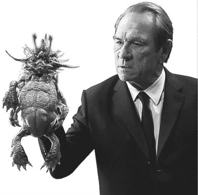 UNDATED --   Keone Young (left) and Tommy Lee Jones holding Spiky Bulba in Columbia Pictures MEN IN BLACK 3. HANDOUT PHOTO: Sony.   For Jay Stone (Postmedia News).