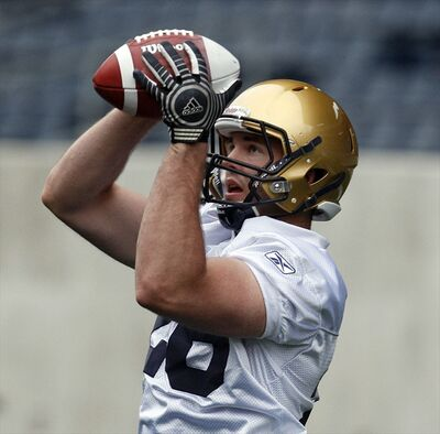 Non-Import fullback Carl Fitzgerald has made the Winnipeg Blue Bombers practice roster.