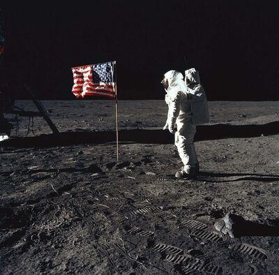 NASA / TNS files</p><p>Astronaut Buzz Aldrin stands on the lunar surface during the Apollo 11 mission on July 20, 1969. Humanity needs another inspirational moment like this amidst climate crisis.</p>