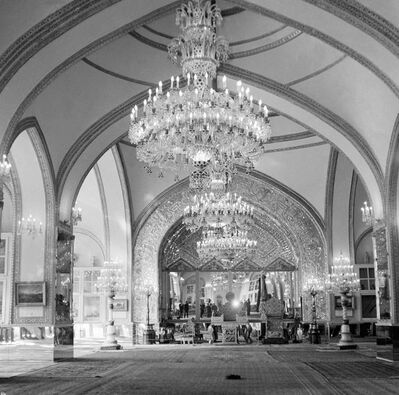 """This Oct. 27, 1960 file photo, shows a partial view of the Throne Hall of the Royal Golestan Palace, in Tehran, Iran. Iran's ancient and rich cultural landscape has become a potential U.S. military target as Washington and Tehran lob threats and take high-stakes steps toward a possible open conflict. President Donald Trump tweeted Saturday, Jan. 4, 2020, that if Iran targets any American assets to avenge the killing of a top Iranian general, the U.S. has 52 Iranian sites it will hit, including ones """"important to Iran & Iranian culture."""" (AP Photo/Jim Pringle, File)"""