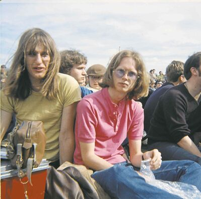 James and Einarson, both 17, at the Niverville Pop Festival in May 1970.