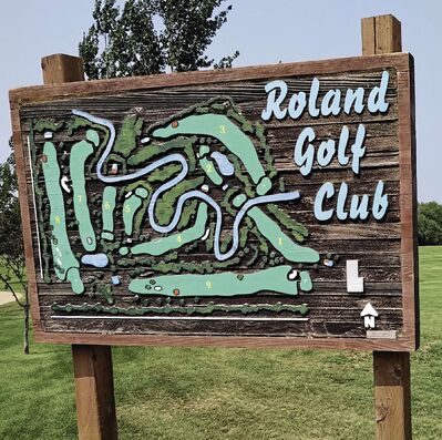 The nine-hole layout at Roland is relatively long and quite enjoyable.