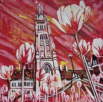 This painting is one of 150 in Portage la Prairie artist Yvette Cuthbert's Celebrate Canada series.