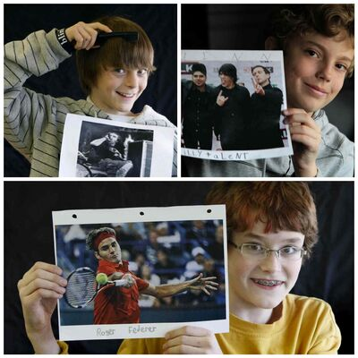 Clockwise from top left: Mason, Quinn and Noah.  (Ruth Bonneville / Winnipeg Free Press)