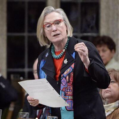 Indigenous and Northern Affairs Minister Carolyn Bennett answers a question during Question Period in the House of Commons in Ottawa, Tuesday, Feb.21, 2017. Bennett says if families of missing and murdered indigenous women have concerns about the national public inquiry, she does too. THE CANADIAN PRESS/Adrian Wyld