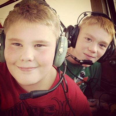 Logan, left, and Gage Spence.