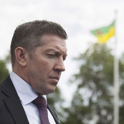 MICHAEL BELL / THE CANADIAN PRESS FILES</p><p>Sheldon Kennedy looks on outside the Court of Queen&#39;s Bench after the trial of Graham James in Swift Current, Saskatchewan, on Friday, June 19, 2015.</p>