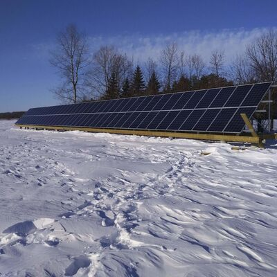 This massive solar-energy installation near Beausejour is one of 38 installed since Manitoba Hydro began offering a $1-per-watt incentive.