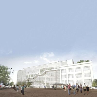 Funding for the $90-million-plus building to be built on the north side of Elgin Avenue, immediately north of the Roblin Centre, has been lined up and the project is a go. (Supplied)</p>