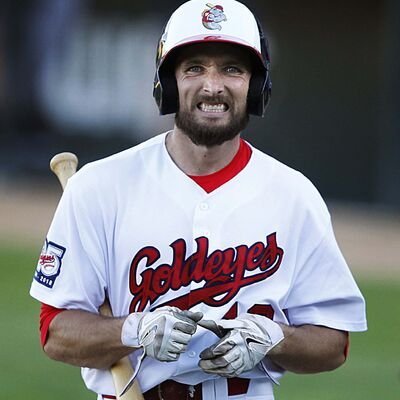 PHIL HOSSACK / WINNIPEG FREE PRESS</p><p>Goldeyes second baseman Tucker Nathans expression says it all after he struck out against the Gary Southshore Railcats Wednesday evening at Shaw Park.</p>