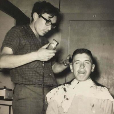 FACEBOOK</p><p>Wild Bill Flamond getting a shave from late brother Rene.</p><p>-