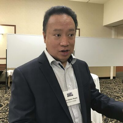 Martin Cash / Winnipeg Free Press</p><p>Jojo Delos Reyes with Research Partnerships and Innovation at Red River College.</p>
