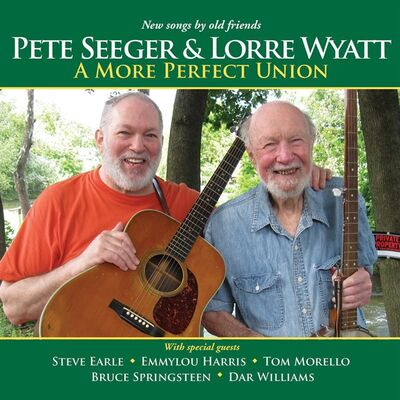"This CD cover image released by Appleseed Recordings shows ""A More Perfect Union,"" one of two releases by Pete Seeger. (AP Photo/Appleseed Recordings)"