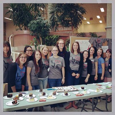 In October occupational therapy students at the University of Manitoba raised over $4000 for two inner-city health programs.