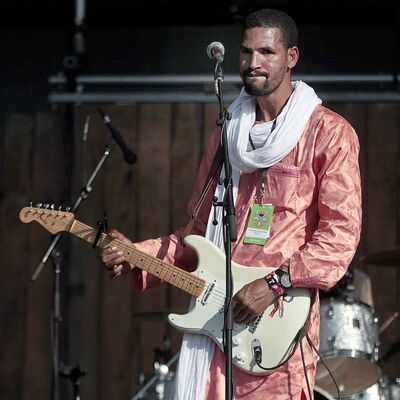 PHIL HOSSACK / WINNIPEG FREE PRESS</p><p>Mdou Moctar feels the groove of his African vibes as he opened the main stage Friday evening.</p>