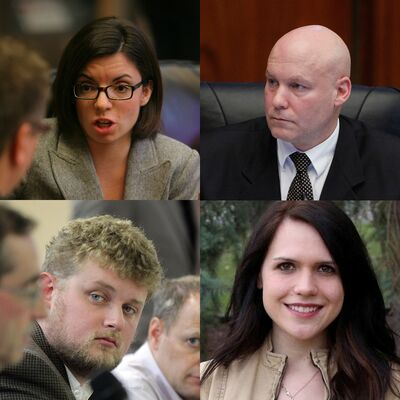 Clockwise from top left: Niki Ashton NDP for Churchill; Jason Schreyer, son of former NDP Premier Ed Schreyer, is the newly minted city councillor for Elmwood-East Kildonan; Cindy Lamoureux, daughter of Winnipeg North Liberal MP Kevin Lamoureux and Manitoba Liberal candidate for the Burrows constituency; NDP candidate Daniel Blaikie.