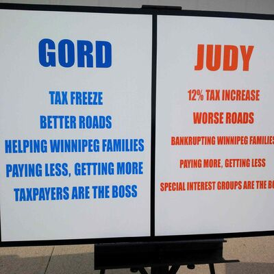 Steeves' campaign placard.