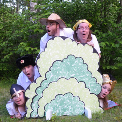 The cast of The Mennonite Fairytale, in full costume, demonstrate the kind of shock and awe they expect from audiences attending the Winnipeg Fringe Theatre Festival, which runs July 17-28.