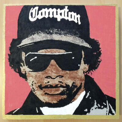 A painting of rapper Eazy-E was created by Jane Hunter for Winnipeg rap duo Machina II to sell to fans at concerts.</p>