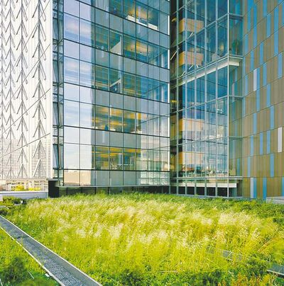 Eduard Hueber / archphotoThe roof on Manitoba Hydro Place is one of several in Winnipeg that have gone green.