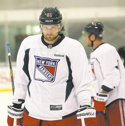 The Rangers will be without Rick Nash.