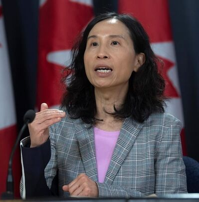 """Canada's Chief Public Health Officer Dr. Theresa Tam speaks during a news conference in Ottawa, Monday, March 9, 2020. Health officials are chanting a common refrain in response to the COVID-19 pandemic: Canada needs to """"flatten the curve.""""This catchphrase — invoked by Canada's top doctor and health minister — refers to an epidemiological graph showing the daily number of new cases over time. THE CANADIAN PRESS/Adrian Wyld"""
