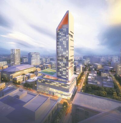 The proposed SkyCity Centre. (Artist's rendering)