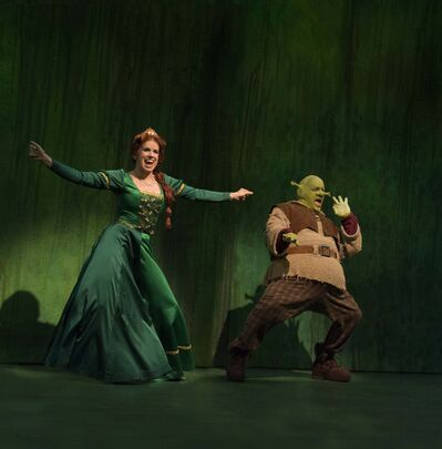 ROBERT TINKER PHOTO</p><p>McGuigan and Nattrass in Rainbow Stage&#39;s production of &#34;Shrek - The Musical&#34; the stage adaptation of the popular Dreamworks animated film.</p>