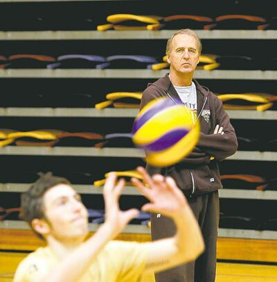 University of Manitoba men's volleyball team coach Garth Pischke is taking a breather.