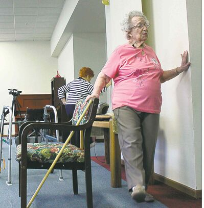 'I'm getting older, but I'm not getting old,' says 99-year-old Gigl, who leads a twice weekly exercise class at the  Hawthorne Terrace retirement residence in Wauwatosa, Wis.