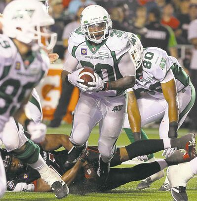 Fred Chartrand / THE CANADIAN PRESS FILESTailback Will Ford has been explosive in two starts for the Roughriders since being released by the Blue Bombers.